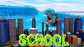Minecraft School | Military School of Mods - TSUNAMI NATURAL DISASTER!