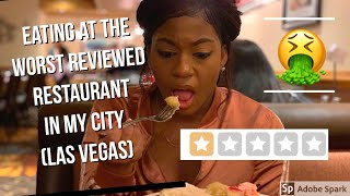 Eating at the WORST reviewed restaurant in my city 🤭(Las Vegas)