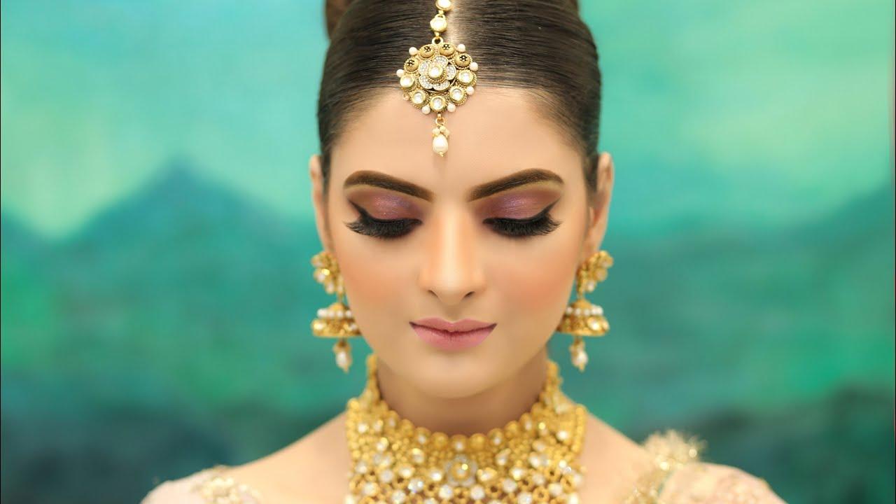 Soft & Dewy Nude pink Makeup tutorial | Classy & Simple Natural look | Farah's salon