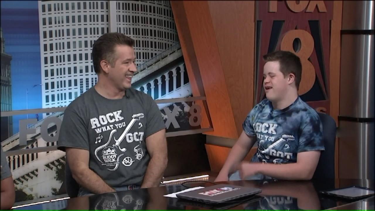 Fox 8`s Gabe Spiegel and son share jokes ahead of `Buddy Walk`