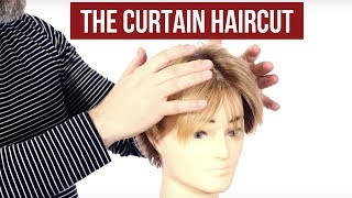 How To Achieve The Curtains Haircut Thesalonguy Youtube