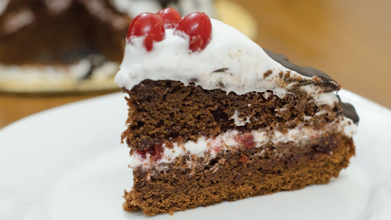 Eggless Cake Recipe In Marathi With Oven: EGGLESS BLACK FOREST CAKE RECIPE I Without Oven