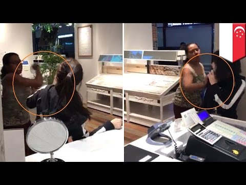 Woman trashes Ownday optical shop, gets arrested for rampage in Singapore mall - TomoNews