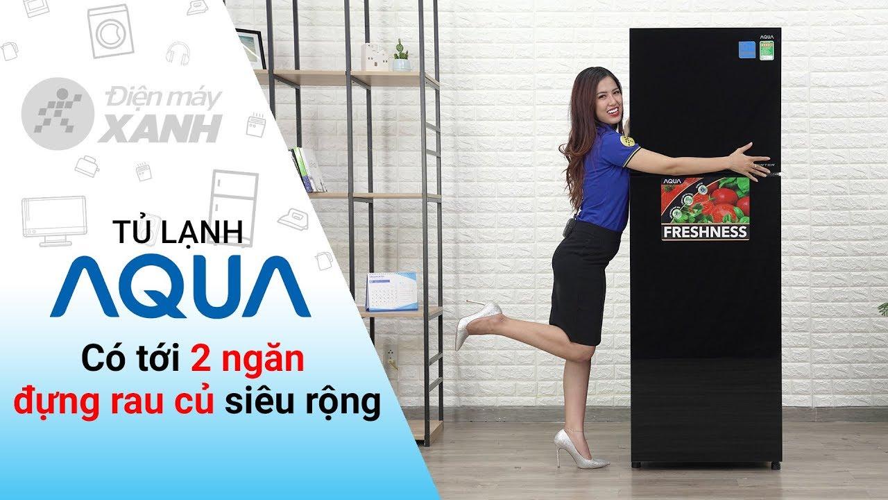 Tủ lạnh Aqua Inverter 373 lít: 2 ngăn rau củ siêu rộng (AQR-IG386DN GBN) | Điện máy XANH