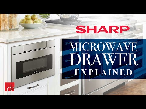 Sharp SMD2480CS Wave Touch Microwave Drawer Review | Modern Kitchen Design