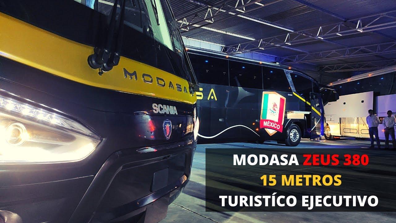 MODASA ZEUS 380, 3 EJES 15 METROS. CONOCE EL NUEVO AUTOBÚS DE LARGA DISTANCIA PARA MÉXICO