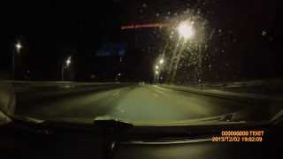 teXet DVR-561SHD трасса со светом и без