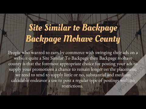 Backpage mohave