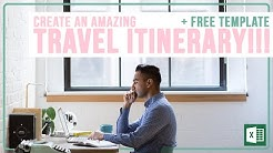 Create an Amazing Travel Itinerary!!! | Microsoft Excel Tutorial + FREE TEMPLATE