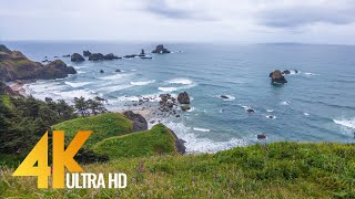 Pacific Northwest 1. Coastal Oregon - 4K Documentary Film with NO voice over - Relaxing Music