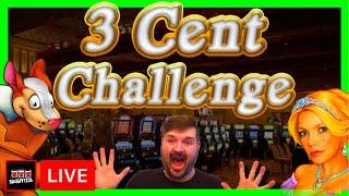 3 Cent Slot Machine Challenge w/ SDGuy1234