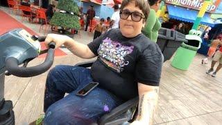 Andy Milonakis Trolls People in Wheelchair at Universal Studios