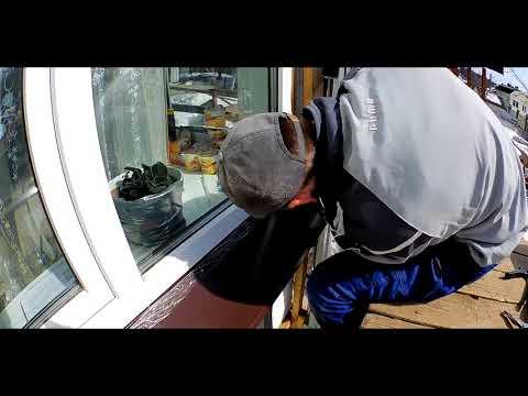 Как правильно отделать окно сложными металлическими откосами за 36 минут