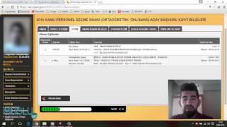 ÖSYM AİS Üzerinden 2016 KPSS Ortaöğretim / Önlisans Başvuru ( Aday İşlemleri Sistemi )