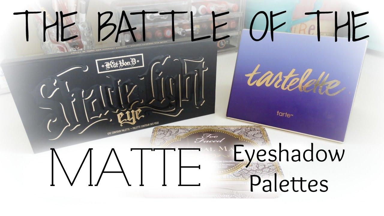 The Battle Of The Matte Eyeshadow Palettes Natural Mattes Tartelette Shade Light