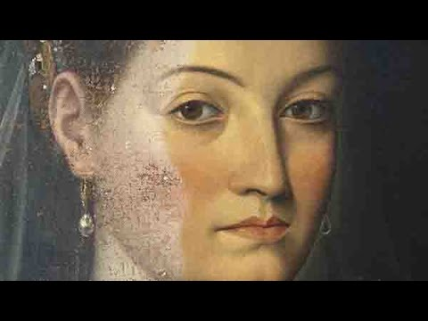 Varnish removal of Jacopo Zucchi's Portrait of a Lady