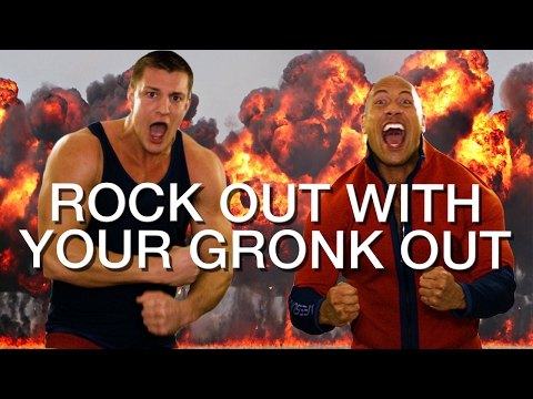 The Rock & Rob Gronkowski Go Crazy After The Patriots Win The Super Bowl