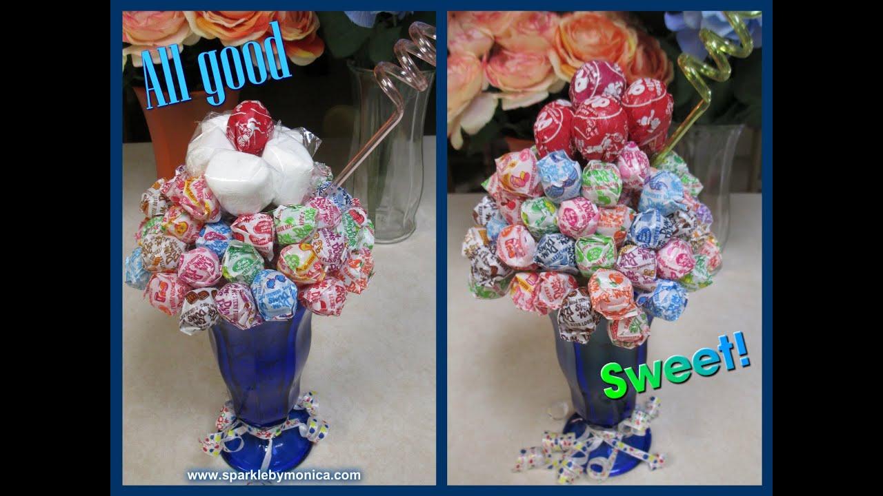 Diy candy bouquet dum dums tootsie roll lollipop ice cream sundae diy candy bouquet dum dums tootsie roll lollipop ice cream sundae sparkle by monica izmirmasajfo Choice Image