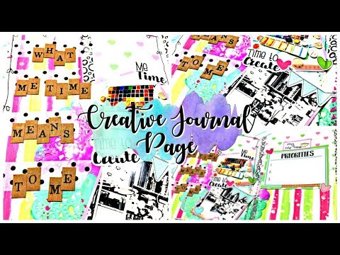 Creative journal page: Session 9: With Lollipop box club