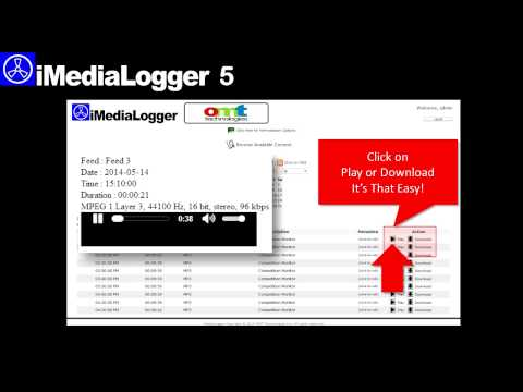 OMT - IMediaLogger5 Demo - Web Portal Overview