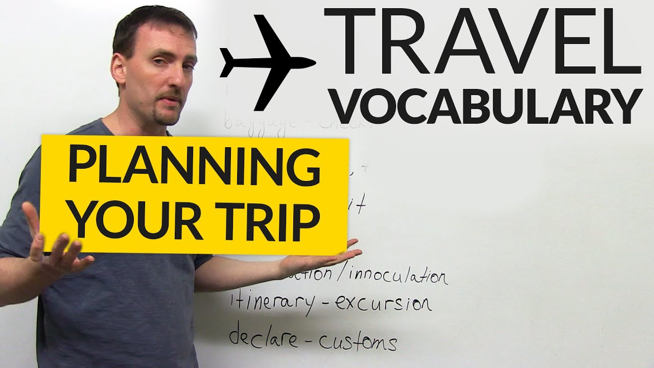 English Travel Agency Vocabulary