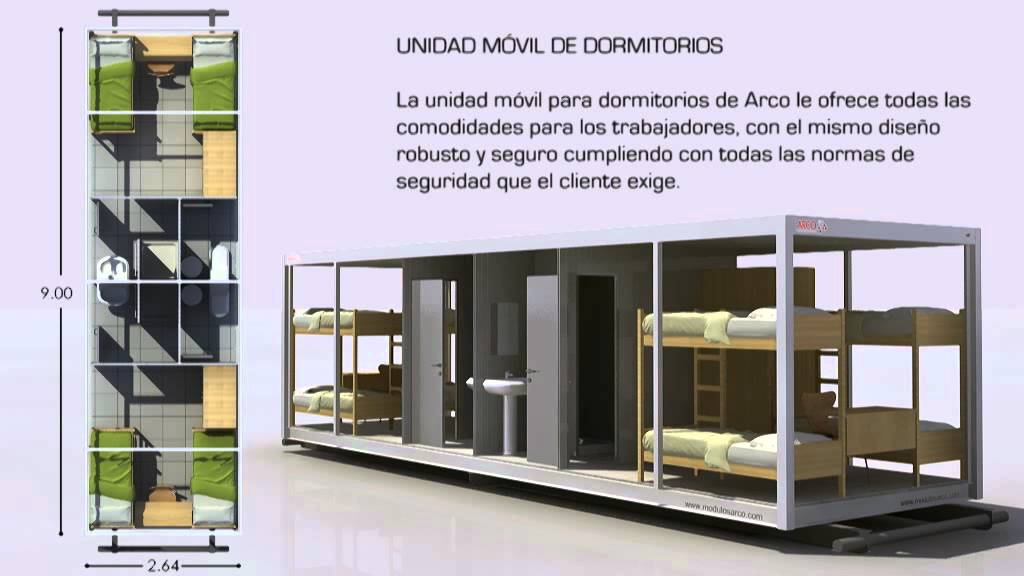M dulo dormitorio de m dulos arco youtube - Modulos prefabricados para viviendas ...