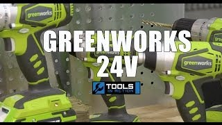 Greenworks 24V Drill and Impact Driver