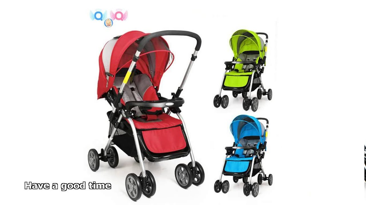 combi baby stroller - Playing...