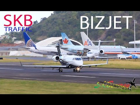 Bombardier Challenger 300, Gulfstream G-IV departures @ St. Kitts R. L. B Int'l Airport