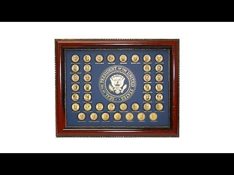 20072016 Uncirculated Presidential Dollars in Frame