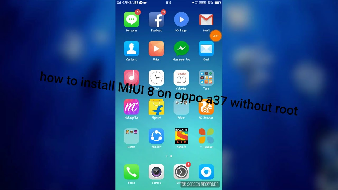 How to install MIUI 8 on oppo a37 without root