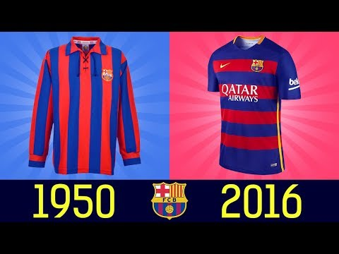 All FC Barcelona Football Kits in History  ||1920--2016||