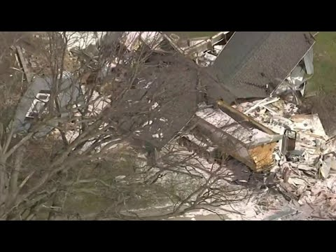 Semi truck destroys Macomb County home