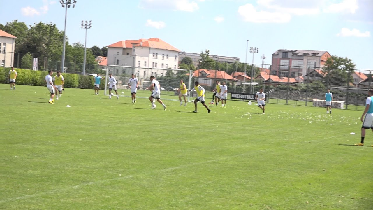 Trening i razgovor sa fudbalerima FK Partizan