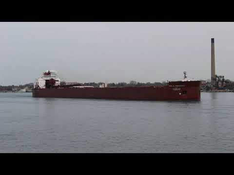 Paul R. Tregurtha Sailing on Lake Huron in Port Huron, MI (4-10-2021)