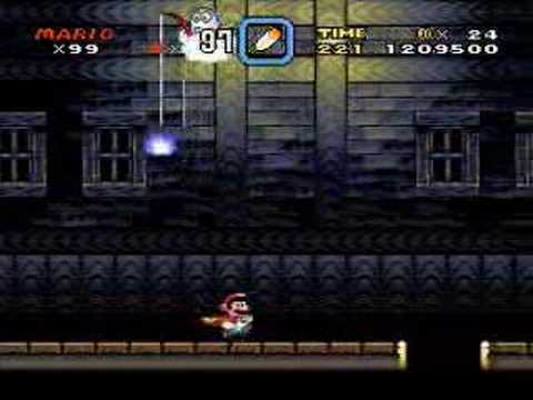 Super Mario World Snes Choco Ghost House Youtube