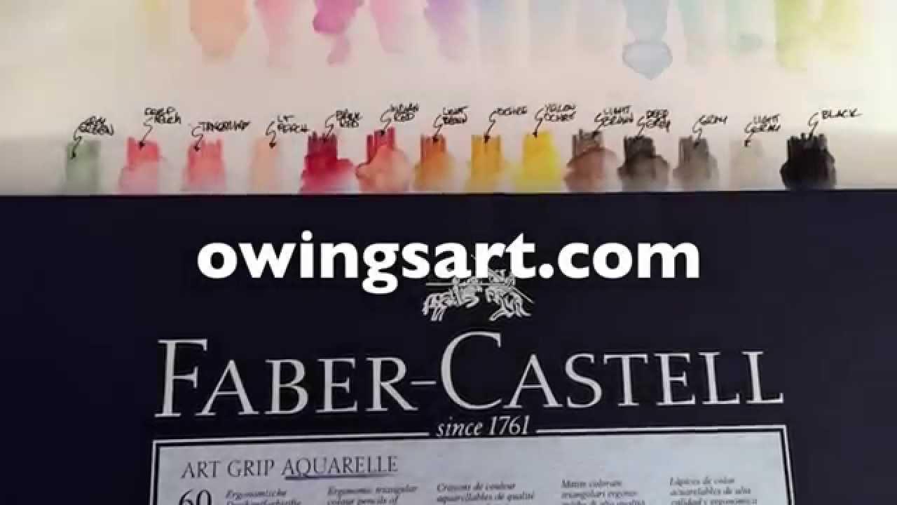 Watercolor Pencil Art Grip Aquarelle Tin Of 60 Watercolor Pencil