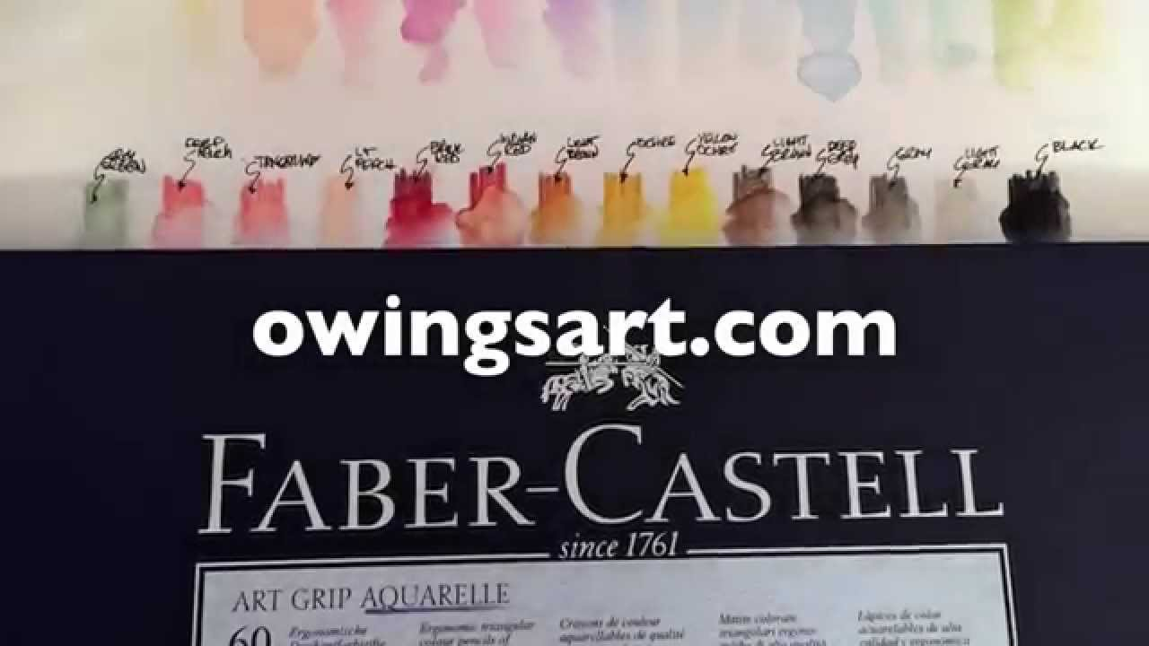 Faber Castell Art Grip Aquarelle Pencils Youtube