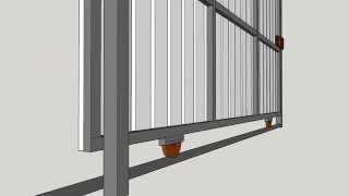 Porton De Corredera Metal - Madera  --sliding Metal Door - Wood