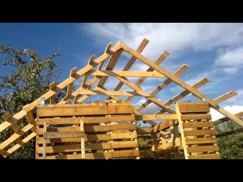 Budowa Altany Z Palet Cz1 Youtube