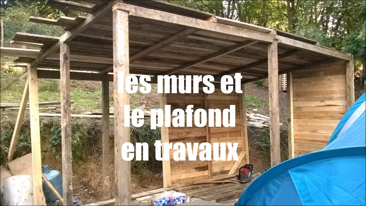 Abri De Jardin Avec Palettes construction d'une cabane en palette - youtube
