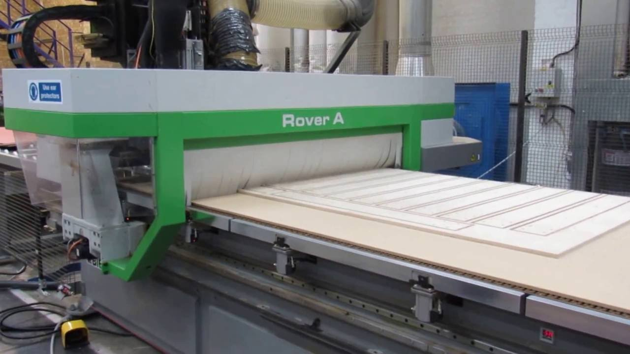 Biesse Rover Cnc Routing Edgebanding Nesting Woodworking Machine