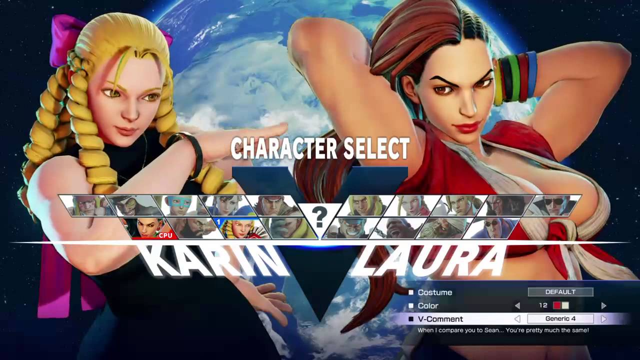 Street Fighter V Basic Girl Character Gameplay Youtube