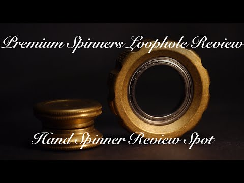 Premium Spinners LoopHole T12 Brass Review - Fidget Ring Hand Spinner