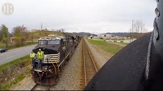 locomotive ride along norfolk western 611
