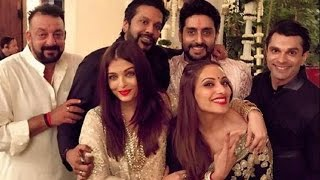 Bollywood Celebs At Sanjay Dutt's Diwali Party   Live Bollywood Updates