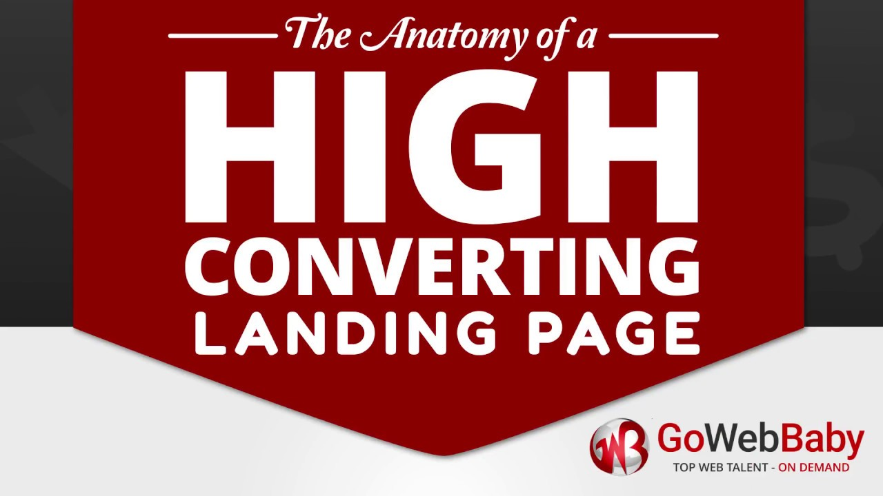 The Anatomy of a High Converting Landing Page - Gowebbaby - YouTube