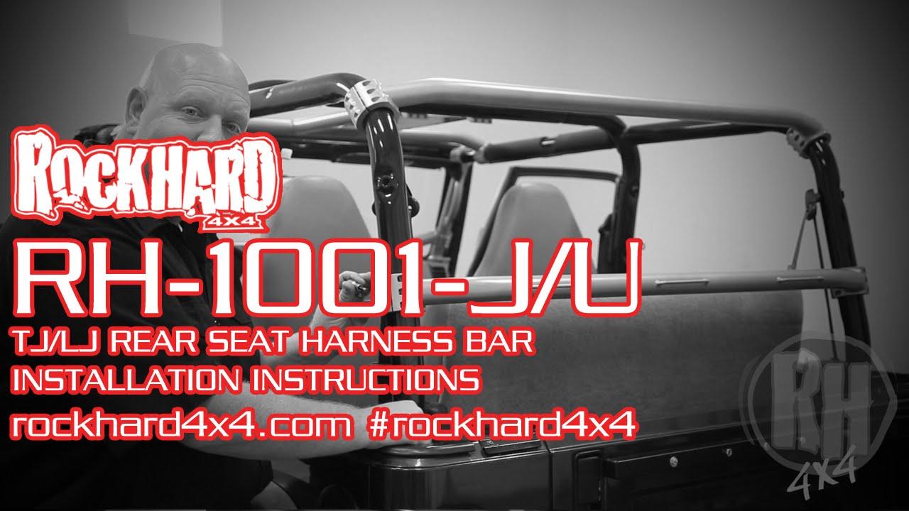 RH1001JU Jeep TJLJ Rear Seat Harness Bar Install