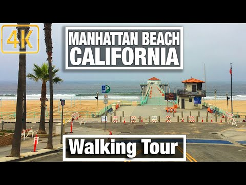 4K City Walks -Manhattan Beach, California - During Lockdown - Virtual Treadmill Scenery Walk