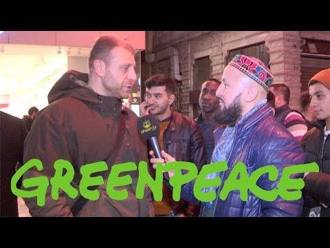 Taksimde Greenpeace Üyesi Bir Ateist'le Müslüman Karşı Karşıya Gelirse